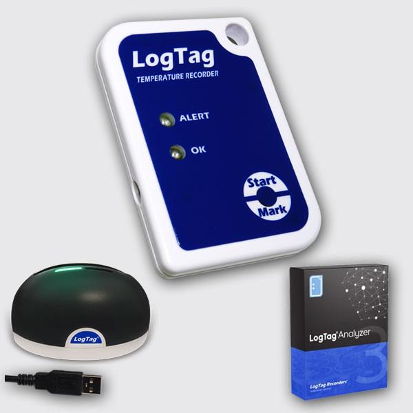 Kit de inicio LogTag TRIX-8 + Base + Software